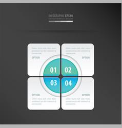 rectangle presentation design neon blue vector image vector image
