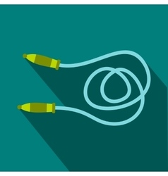 Skipping rope icon flat style vector image