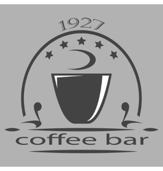 Vintage coffee themed monochrome labels vector image