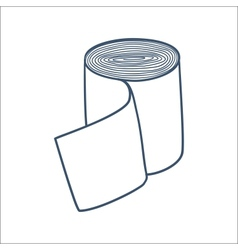 Bandage roll isolated on white vector image