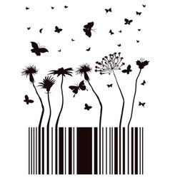 barcode garden vector image vector image