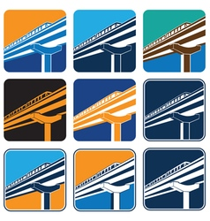 city train vector image