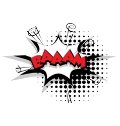 Comic text bam sound effects pop art vector image vector image