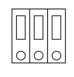 folders icon vector image vector image
