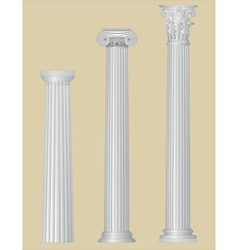 greek columns with details vector image vector image