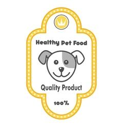 Healthy Pet Food label vector image
