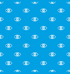 human eye pattern seamless blue vector image