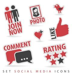Set Social Media Icons vector image vector image