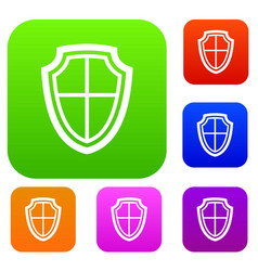 shield set collection vector image