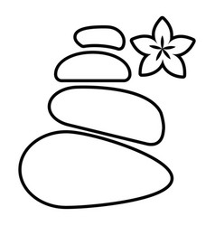spa balance stones icon outline style vector image