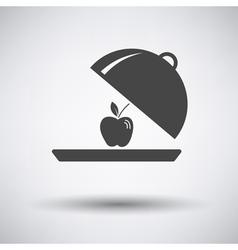 Apple inside cloche icon vector image vector image
