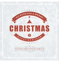 Christmas retro typography and light with vector image vector image