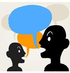 PeopleTalking vector image