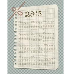2013 scrapbook calendar vector