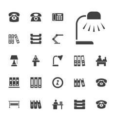 22 desk icons vector
