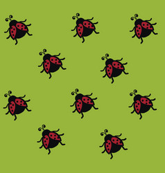 A regular pattern dome-shaped red ladybugs or vector