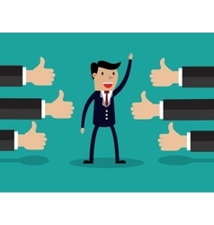 a successful businessman vector image