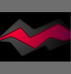 abstract black and red corporate background vector image