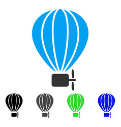 Aerostat balloon flat icon vector