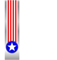 American flag symbols ribbon frame vector