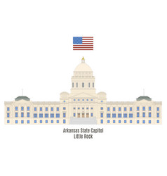 Arkansas state capitol vector