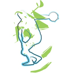 Athlete throwing the discus vector image