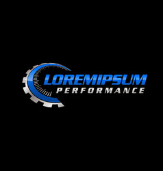 auto performance logo vector image
