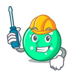 automotive circle mascot cartoon style vector image