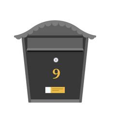 Black post box or mailbox icon vector