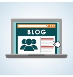 Blog design Social media concept online vector