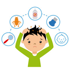 boy with lice vector image
