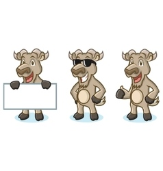 Burly Wood Goat Mascot happy vector