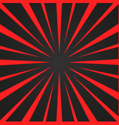Burst red and black rays background designed vector