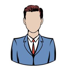 businessman icon cartoon vector image
