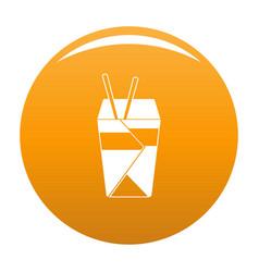 chinese fast food icon orange vector image