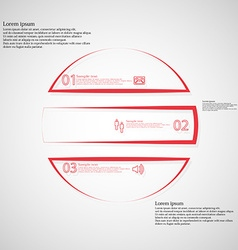 Circle infographic template horizontaly divided to vector