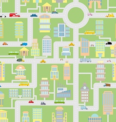 City seamless pattern Modern metropolis with vector