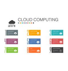 Cloud computing infographic 10 option line concept vector