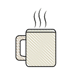 Coffee mug beverage break vector