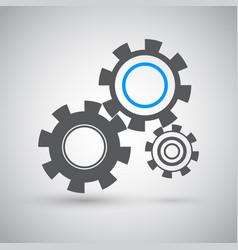 cogwheels icon vector image