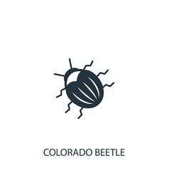 Colorado beetle icon simple gardening element vector