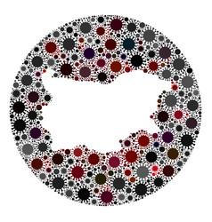 covid19 virus stencils circle bulgaria map mosaic vector image