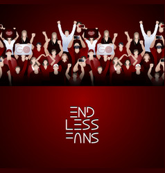 Crowd of cheering fans vector