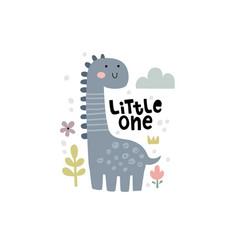 Cute a funny dinosaur vector