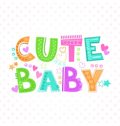 cute baby print vector image