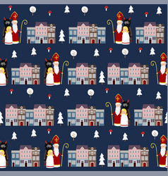 cute winter seamless fabric pattern with st vector image