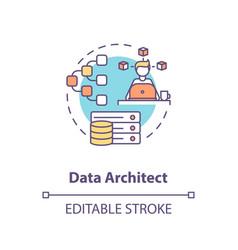 Data architect concept icon vector
