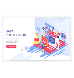 data protection concept credit card check and vector image