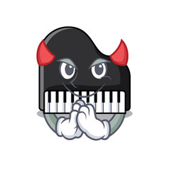 Devil piano mascot cartoon style vector