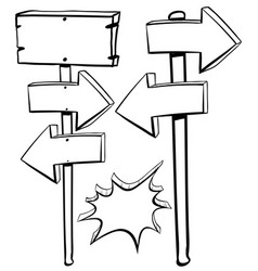 Different shapes of signs on poles vector